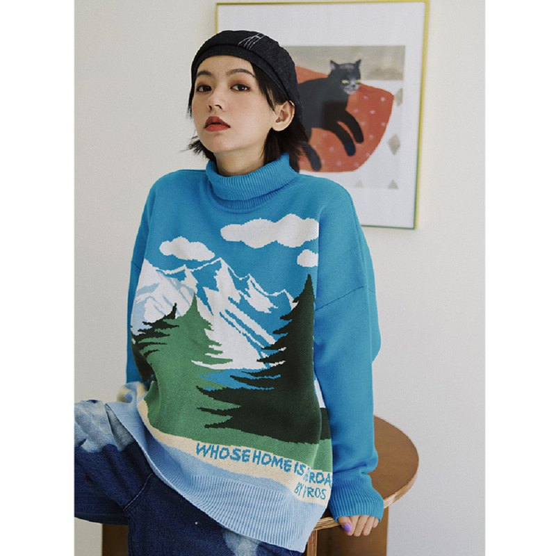 PROS BY CH Snow Mountain Forest Sweater
