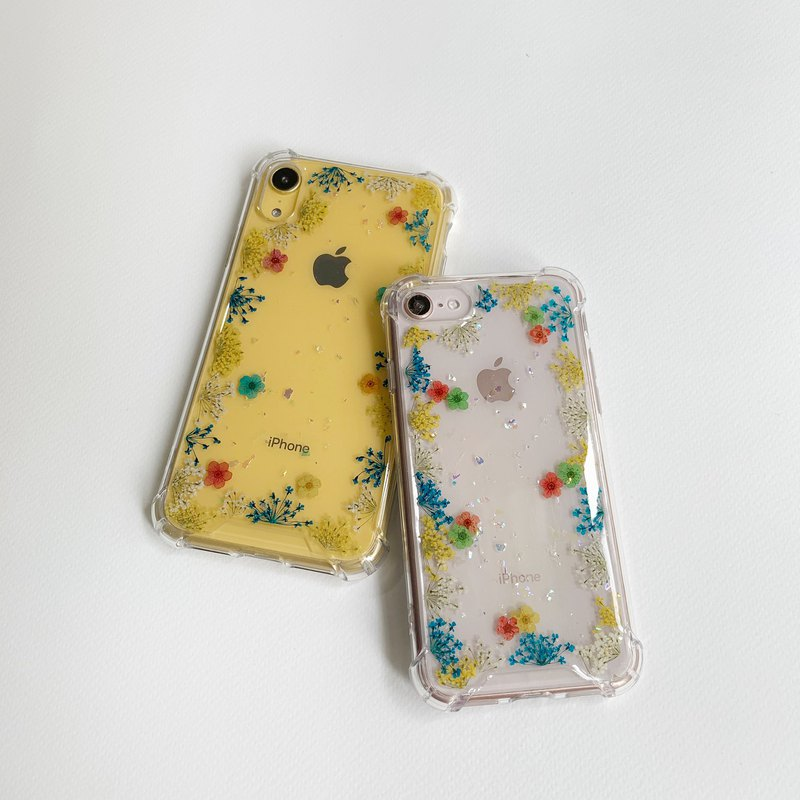 Starry starry night - pressed flower phone case