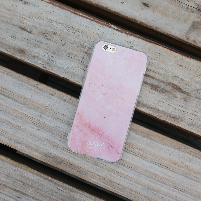 Original pink marble iPhone case protector hard shell transparent soft edge