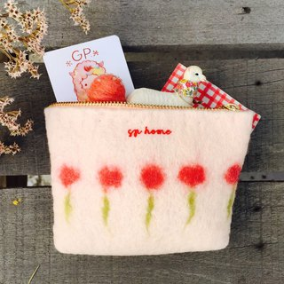 Pre-order -gp home spring blossoming small bag / coin bag / small cosmetic bag