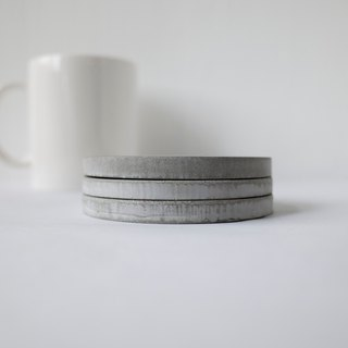 No room │classic gray cement coasters