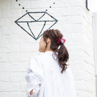 mini || Wine || Blooming Sakiami Colourful Hair Scrunchy || Hair Accessory