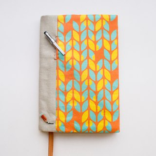 Jot of Ideas fabric A6 bookcover - Sunburst Knits