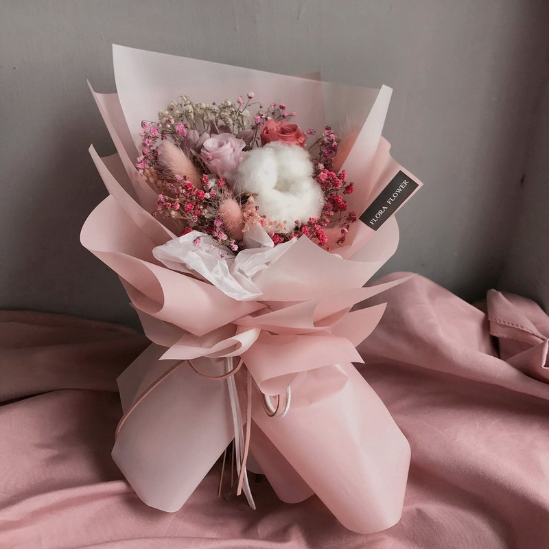 Graduation Bouquet (Girl) Eternal Flower Cotton Everlasting Bouquet Graduation Gift