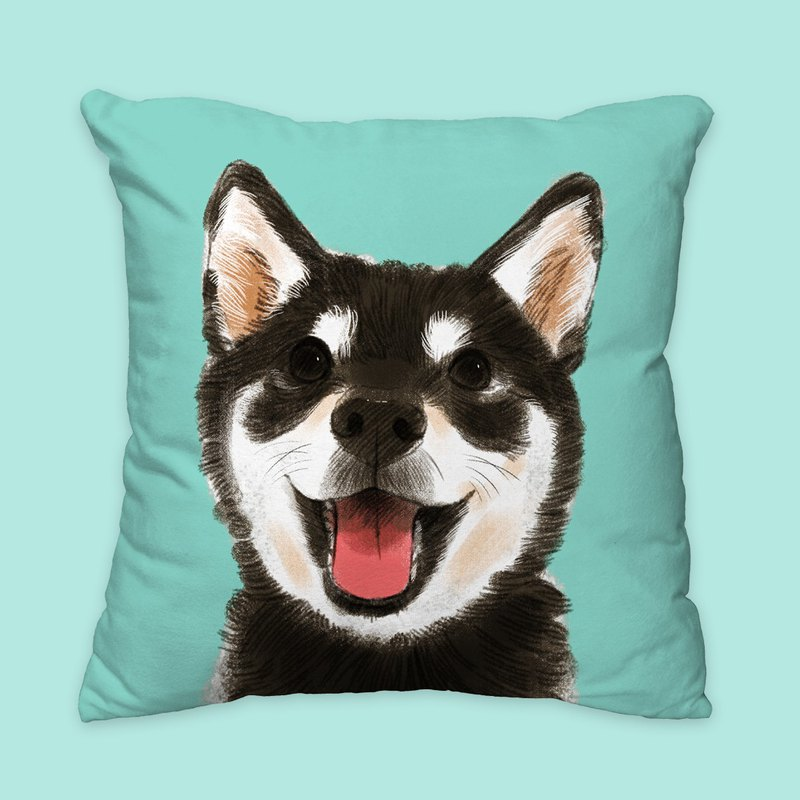 [I will love you forever] Classic black firewood pillow animal pillow / pillow / cushion