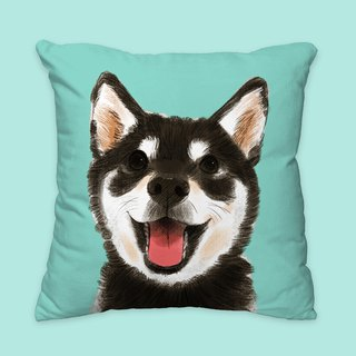 [I will love you forever] classic black wood pillow animal pillow / pillow / cushion