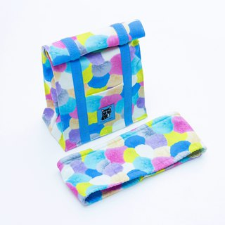 Fantasy ball main pet out also have fashionable accessories group - cold insulation bag cool towel - blue