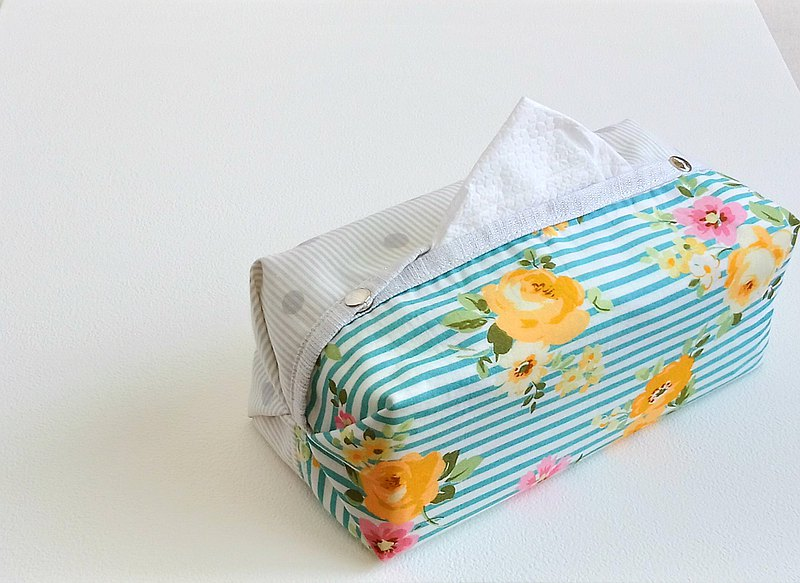 [ITS/ Core Tie Noodle Paper Cover] Striped dots x flowers. Green and yellow (can be purchased with universal cowhide lanyard)