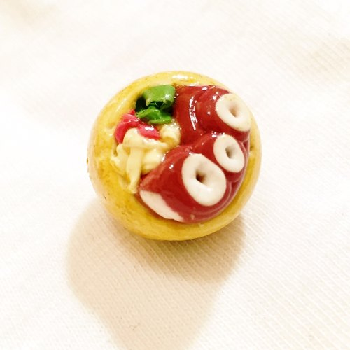 Gold surging ei takoyaki magnets (can be changed Charm) ((over 600 were sent mysterious small gift))