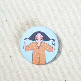 Orange soda Orange girl / badge