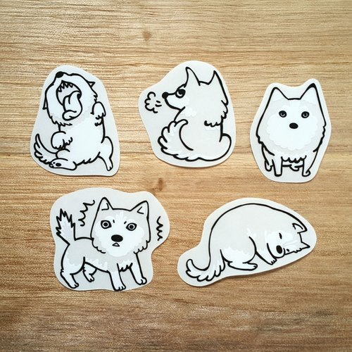 {139} good like the series of naughty dogs, empty empty stickers