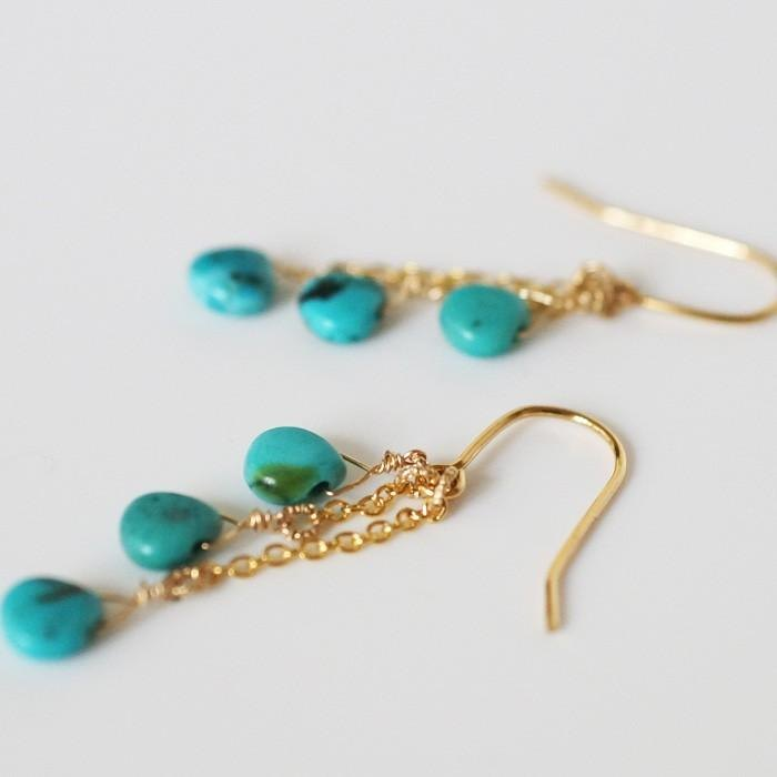 Yumeaki Grain Earrings Turquoise