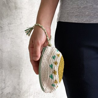 Dumpling zipper purse grassland
