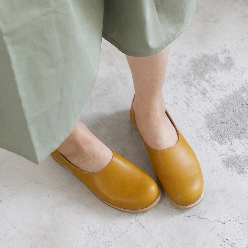 [Pre-Order] World Lineage_Recipe Leather Big Toe Shoes Made in Japan_Mustard Yellow