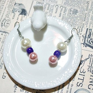 Alloy <Purple Phoenix> _ hook earrings => limited X1