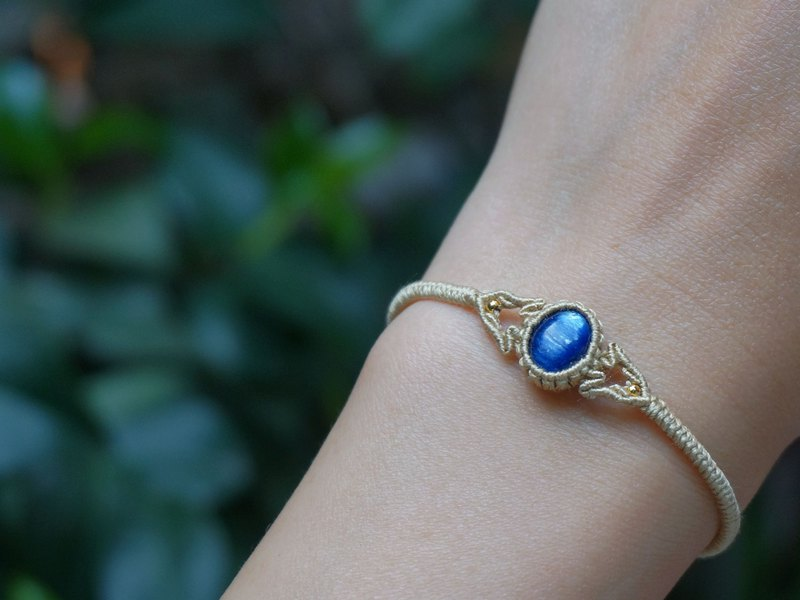 MC | Natural Kyanite Silk Woven Petite Bracelet