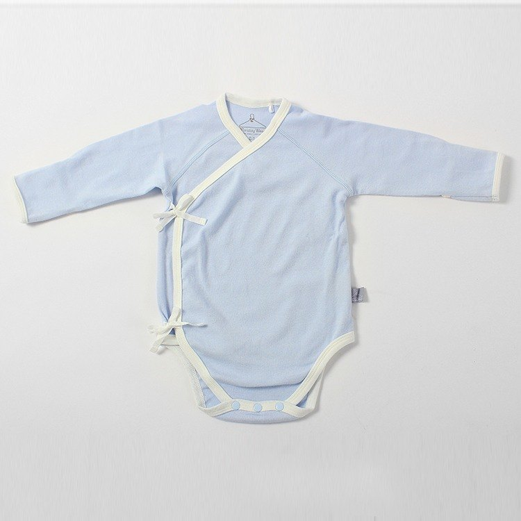 Organic cotton. Fenghua Department of Newborns with a piece of clothing - pink blue (0-3M)