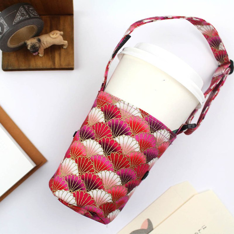 Officially sold coffee cup bag - adjustable handle / green cup / portable beverage bag / beverage cup bag