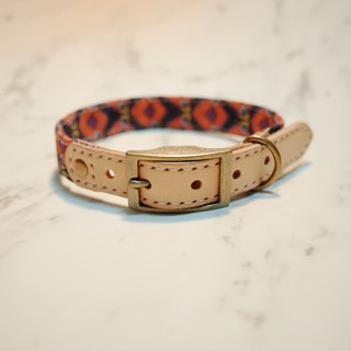 Dog collar M retro Japanese cotton spring spring 醺 醺 bell can be on the leash