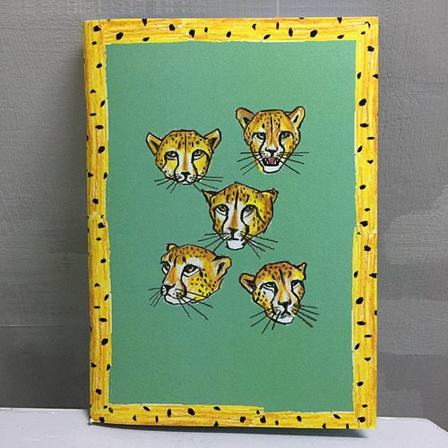 Xiaoyu cheetah color inside the notebook