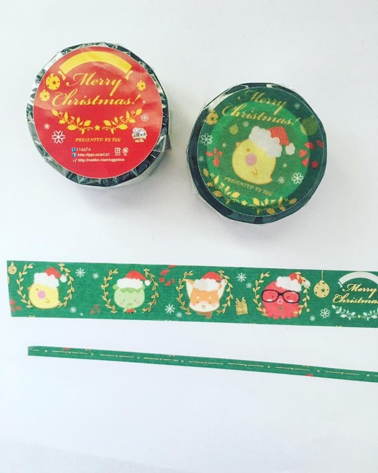 EGG family Christmas gold foil paper tape (buy hot stamping bleeding volume *1 while supplies last)