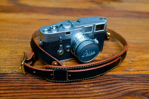 SFK tea core vegetable tanned cow leather camera strap Camera Strap