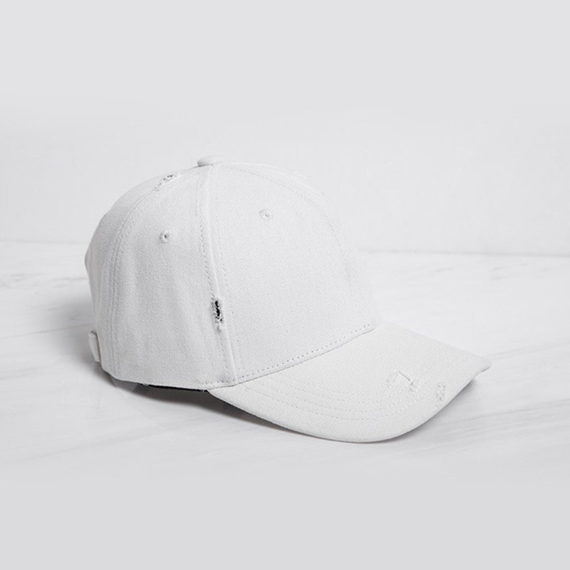 Brushed Style Baseball Cap White - Customized