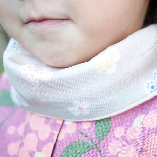 Flowers lotus color double gauze double-sided neck circumference