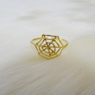 Spider's nest ring K18GF Harajuku kawaii Girly