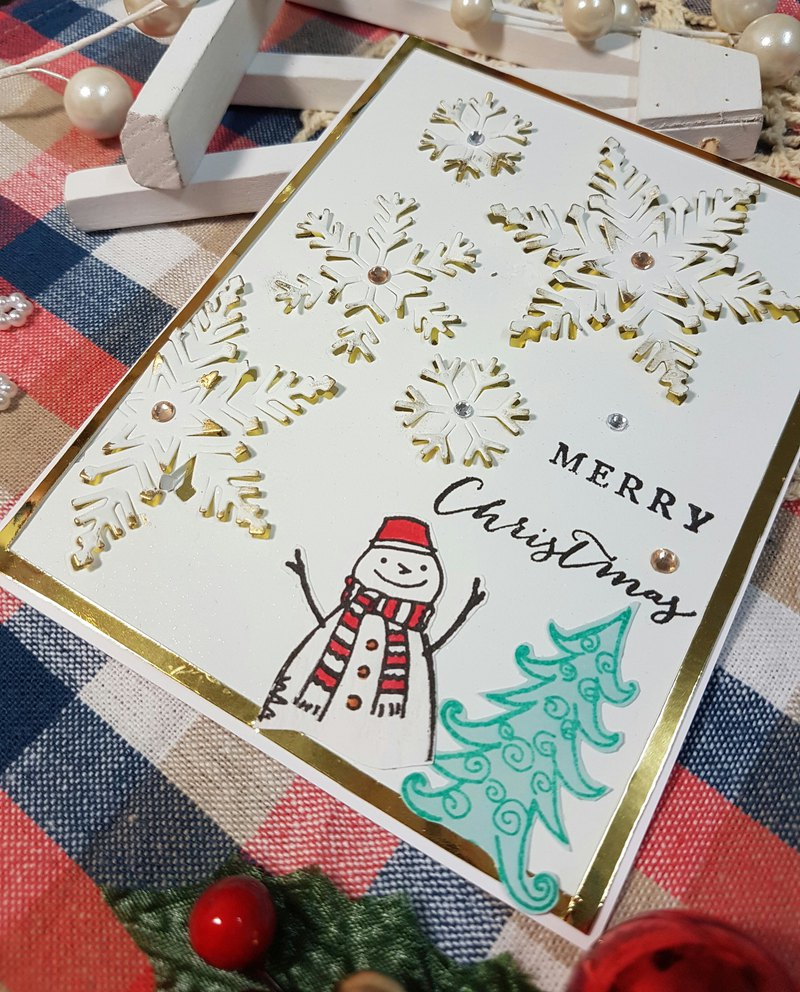 Christmas card (greeting card) - handmade card Venus Christmas