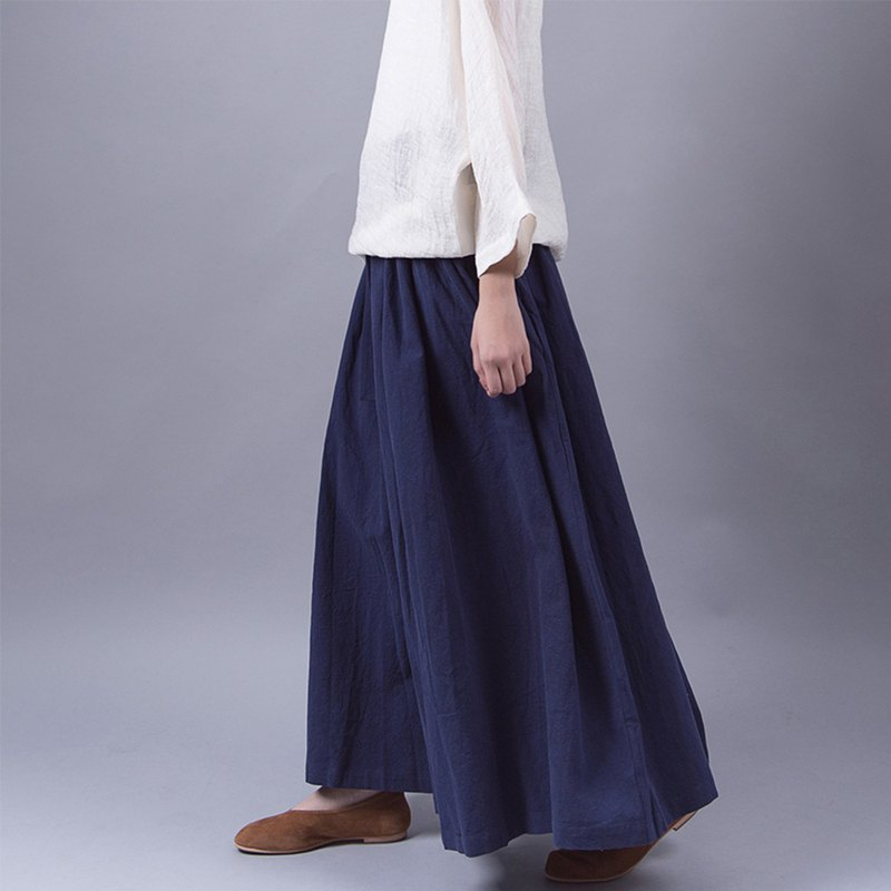 Blue cotton jacketed skirt