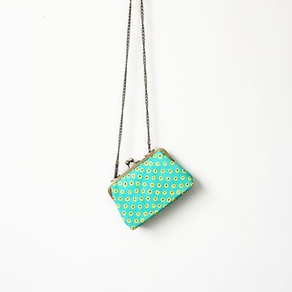 Green eyes small clasp frame bag/with chain/ cosmetic bag / shoulder bag  /