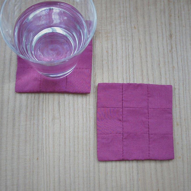"""手工杯墊"""" SQUARE square""""紫色"""