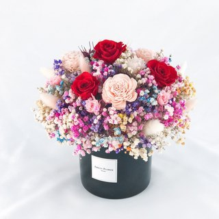 Fun Candy Potted Roses/Colored Gypsophila/Dry Flower/Not Withered Flower/Gift/Birthday/Opening