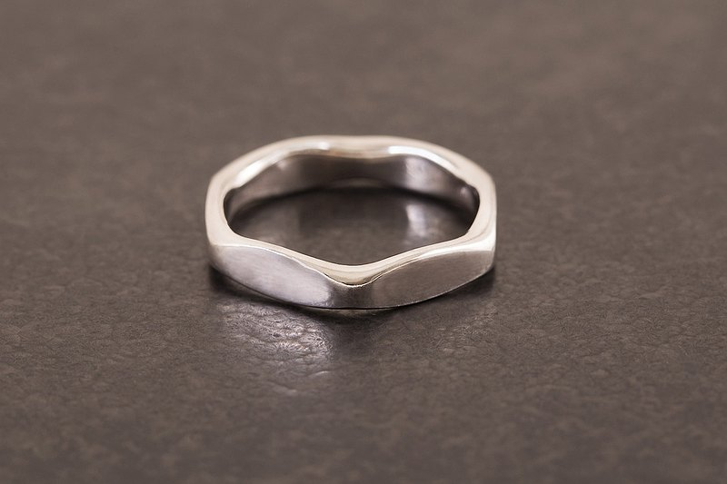 Hexagon Ring-Silver silver-Hexagon nut ring