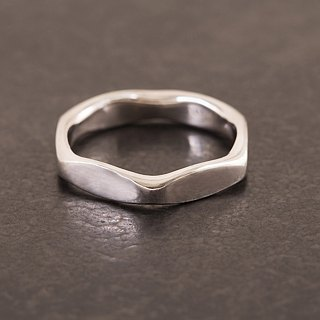 Hexagon Ring Ring - Silver - Hex Nut Multifaceted Ring