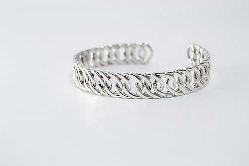 zo.craft flat chain type bracelet / 925 Silver