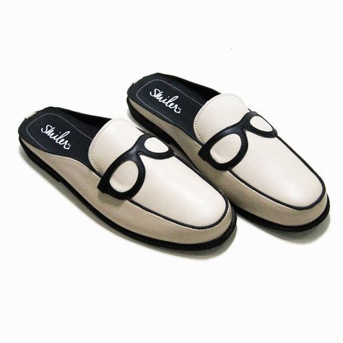 Glasses half-sandals - White