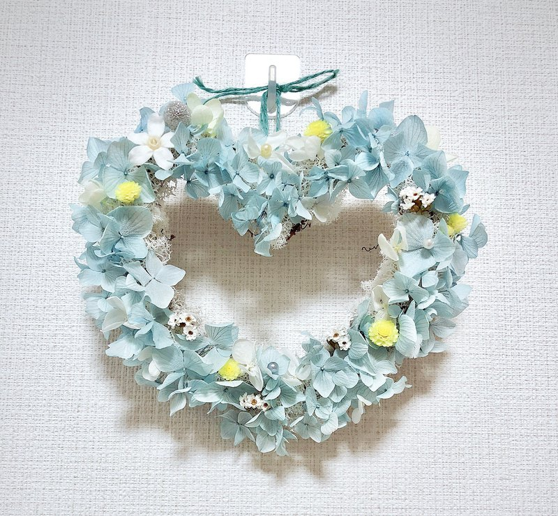 2019 spring color without garland wreath / pink blue love
