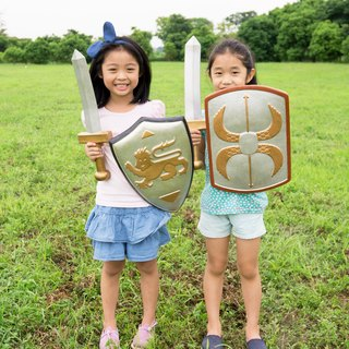 American Rubbabu Pure Natural Latex Sword Shield Group Medieval Knight vs Ancient Roman Legion