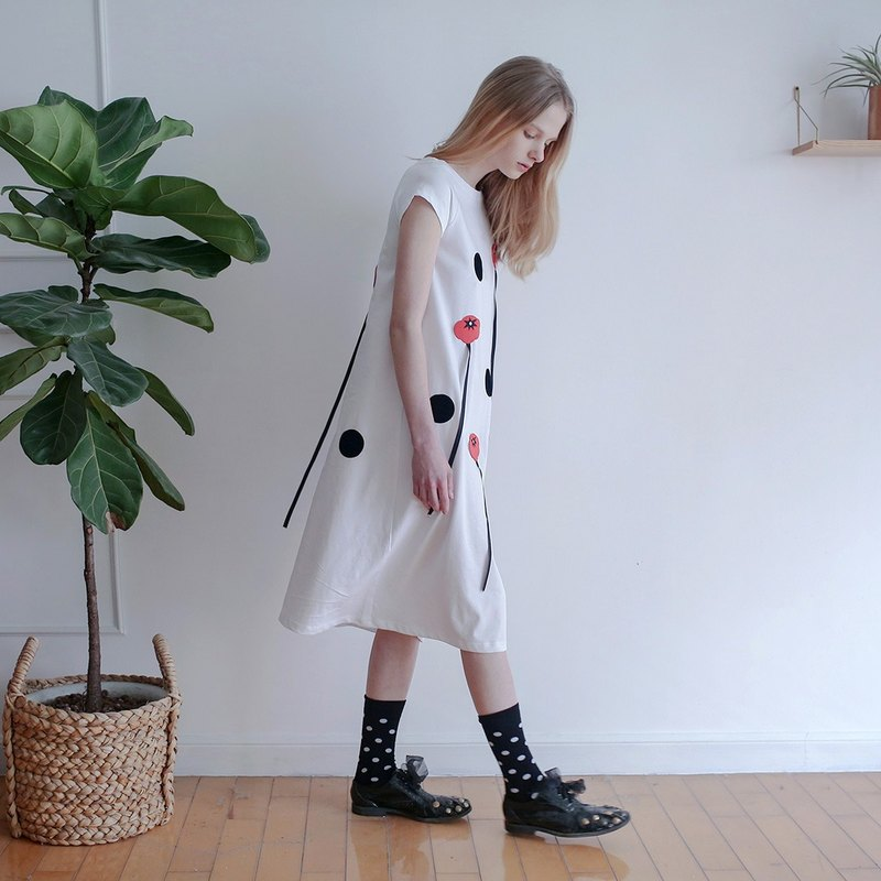 Tomato Tomato white cotton dress - imakokoni