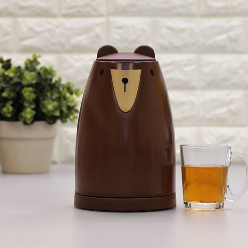 Animal series 1.7L Cordless Electric Warer Kettle - Brown Bear