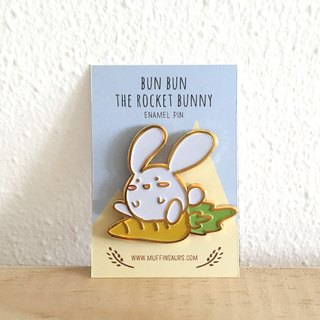 Bun Bun the Rocket Bunny Enamel Pin