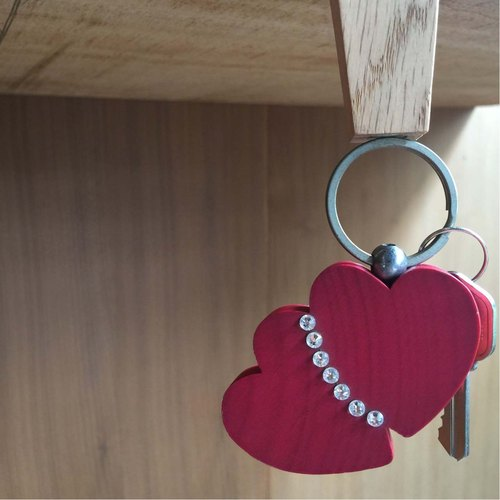 [BESTAR] heart to heart key ring