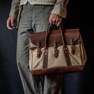 HEYOU Handmade –Well-Dressed Satchel Canvas Washed Canvas
