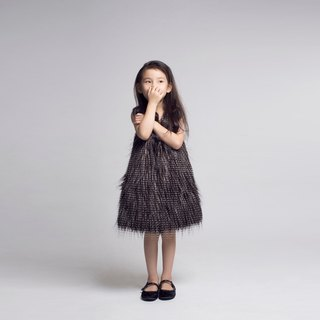Fur Front Shift Dress / FW2016
