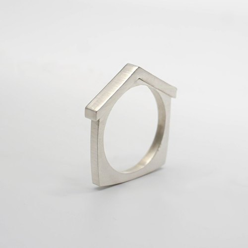 Home - Simple Couple Rings Sterling Silver Modeling Ring