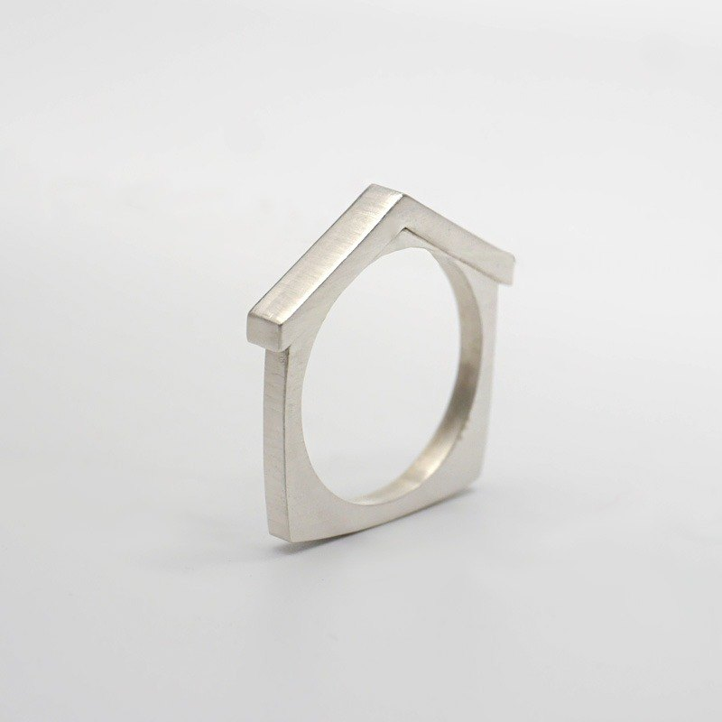 Home - House Ring - Simple Couple Ring - Engagement Ring