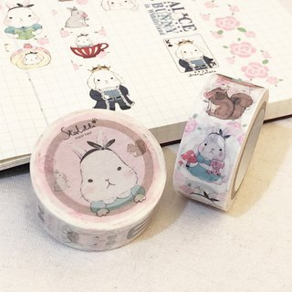 Paper Tape / Big White Rabbit Alice's Adventure 2cm Wide