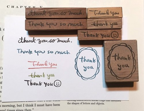 【Thank you】スタンプセット